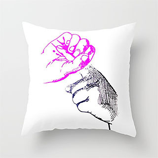 """Magic Finger"" throw pillow"