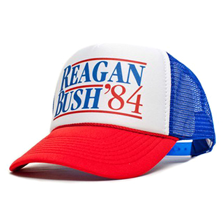 1984 Reagan/Bush Presidential Campaign Trucker Hat