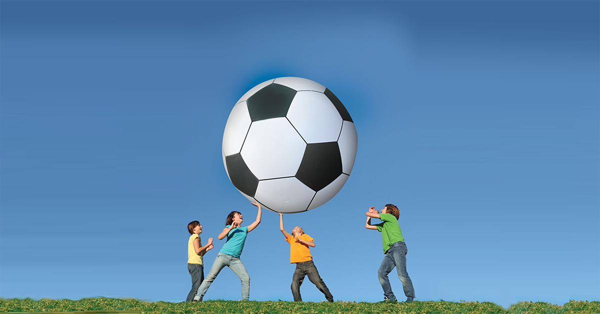 6 Foot Tall Inflatable Soccer Ball Drunkmall