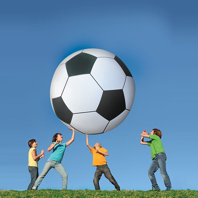6 Foot Tall Inflatable Soccer Ball