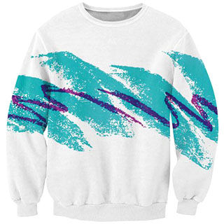 "90s ""Jazz Cup"" Design sweater"