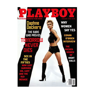 A Used Issue of Playboy Magazine from February 1998