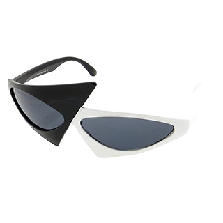 Asymmetrical '80s Sunglasses