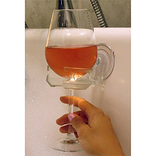 Bath and Shower Wine Holder