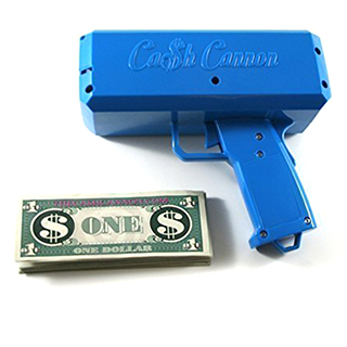 "Cash Cannon: The ""Make It Rain"" Gun"
