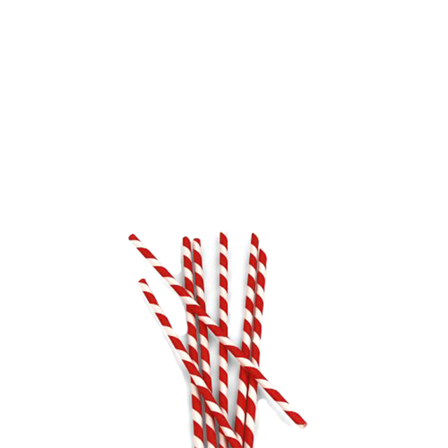 Classic Red and White Striped Paper Straws