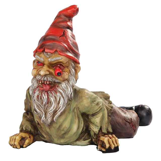 Crawling Zombie Garden Gnome Statue