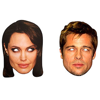 GIVEAWAY: Brad And Angelina Masks