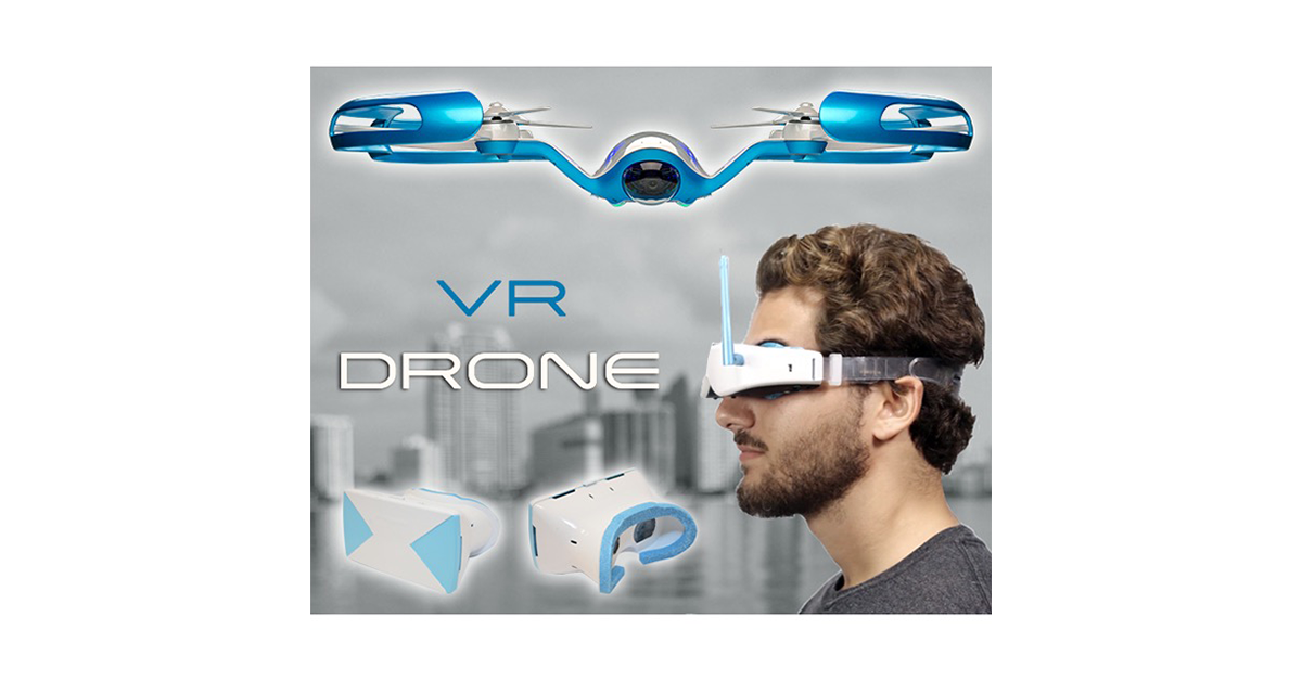 Drone With Virtual Reality Headset DrunkMall