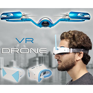 Drone with Virtual Reality Headset