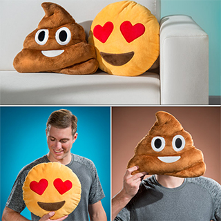 Emoji Pillow and Poop Pillow