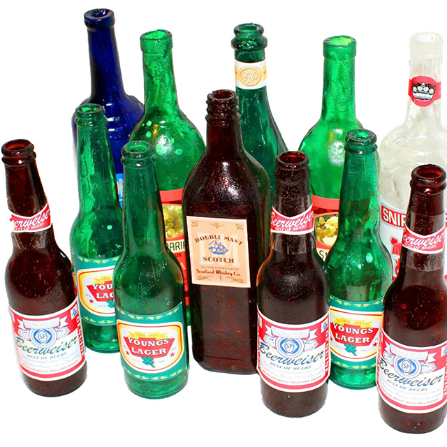"Fake Glass ""Breakaway"" Prop Bottles"