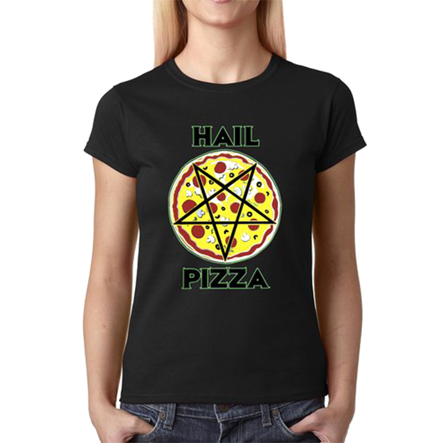 Hail Pizza Pentagram Shirt