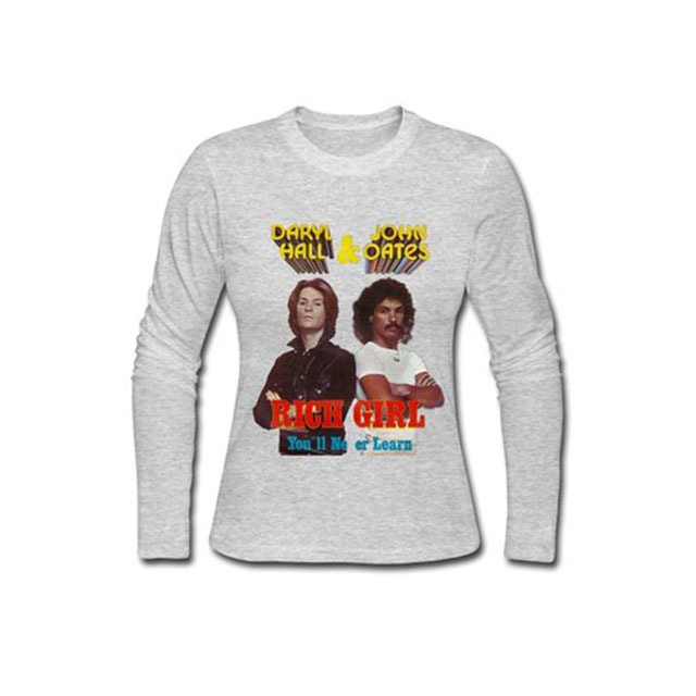 "Hall and Oates ""Rich Girl"" long-sleeve t-shirt"