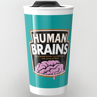Human Brains Travel Mug