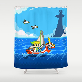 Legend of Zelda: Windwaker shower curtain
