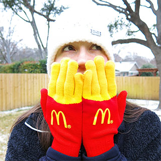 Mickey D's French Fries gloves