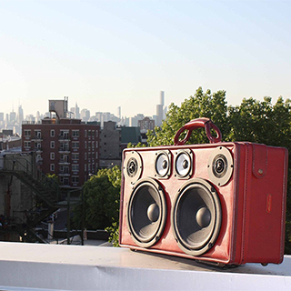 One-of-a-Kind Suitcase Boomboxes
