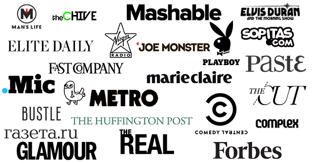 drunkMall Press Logos