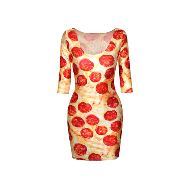 Pepperoni Pizza Dress