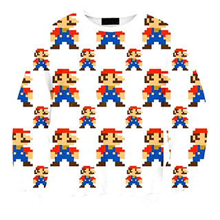 Pixelated Super Mario sweater