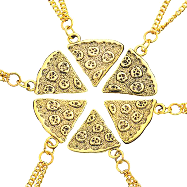 Pizza Pendant Friendship Necklaces