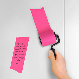 Roll-On Sticky Notes