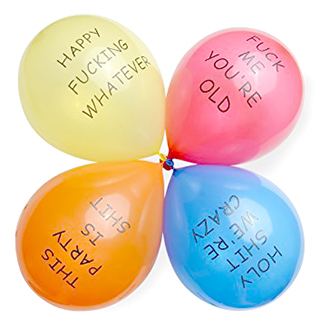 Rude Party Balloons