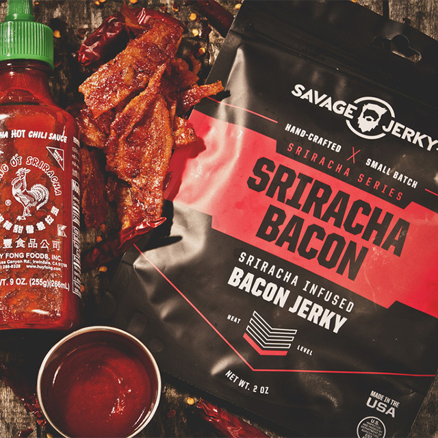 Savage Jerky Co.'s Sriracha Bacon