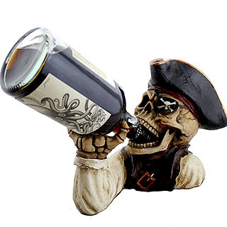 Skeleton Pirate Bottle Holder