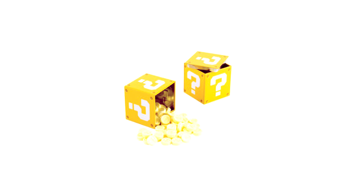 super mario question mark tin box with candy drunkmall