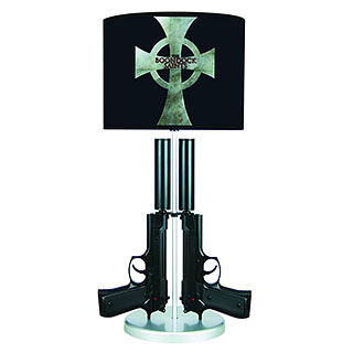 The Boondock Saints Twin Guns Lamp