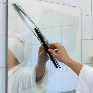 Windshield Wiper Bathroom Mirror