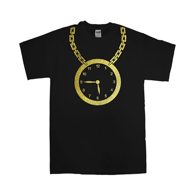 Gold Clock on a Chain shirt