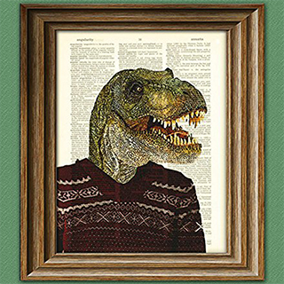 Dictionary Dinosaur Collage