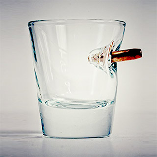 Real Bullet Shot Glass