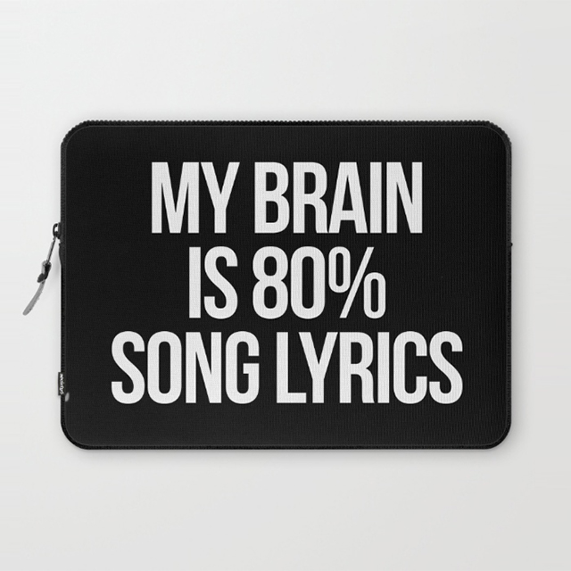 Song Lyrics Laptop Sleeve