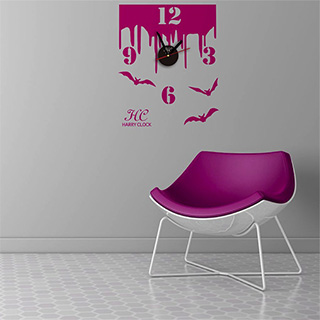 Bloody Bats Decal Clock