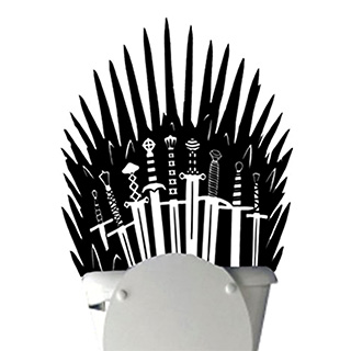 Iron Throne Bathroom Decal