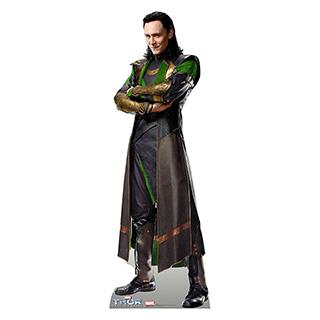 Life-Sized Cardboard Loki