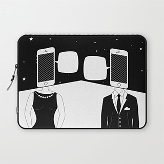Mobile Romance laptop sleeve