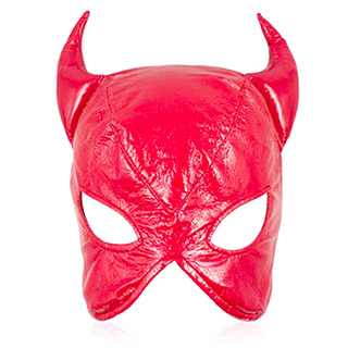 PVC Red Devil Mask