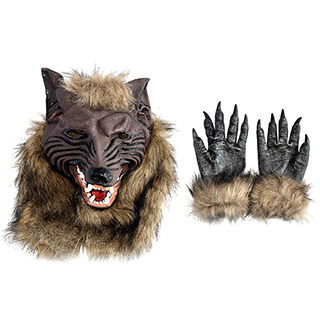 Werewolf Mask and Gloves