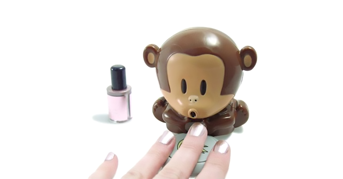 Blowing Monkey Nail Polish Dryer | drunkMall