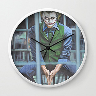 The Joker in Jail Clock
