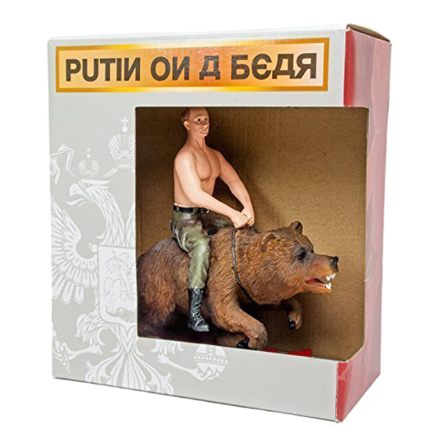 Putin on a Bear Figure