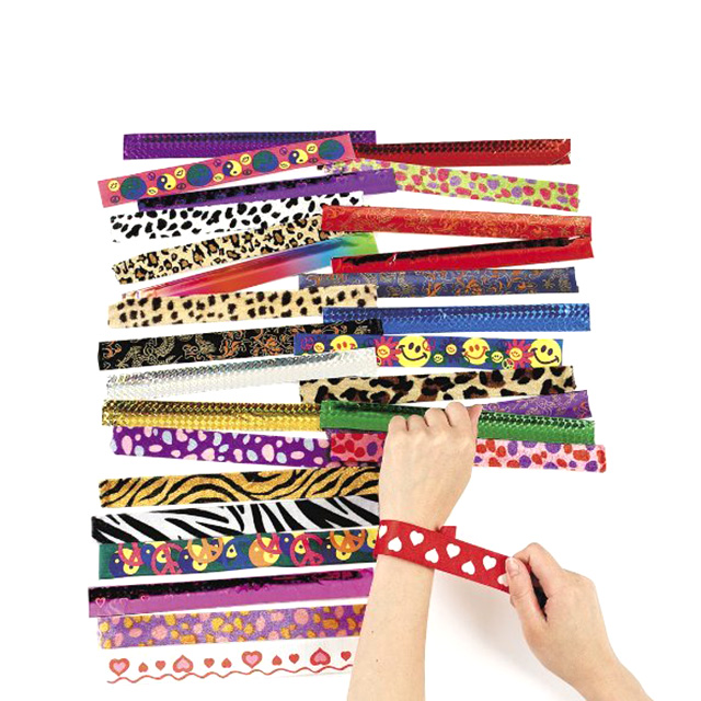 50 Assorted Slap Bracelets