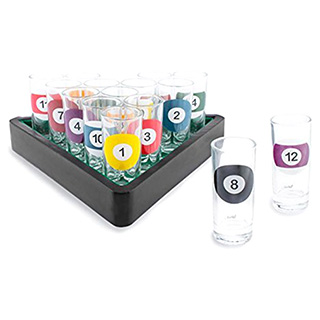 Billiards Shot Glasses