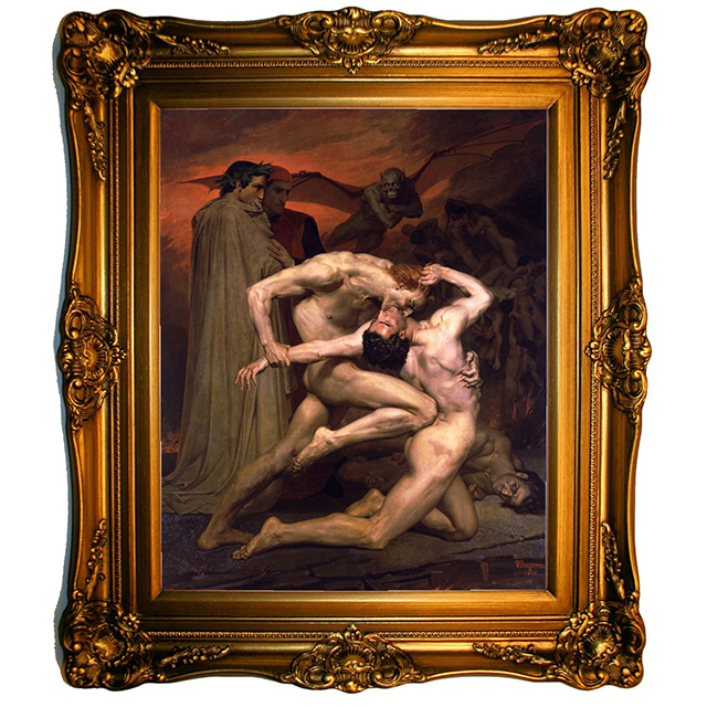 Dante and Virgil in Hell by William Bouguereau