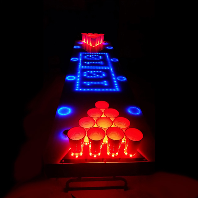 Exclusive beer pong upgrades drunkmall - Interactive led beer pong table ...